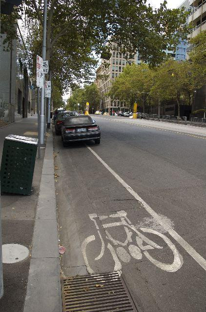 Cycle lane in Melbourne
