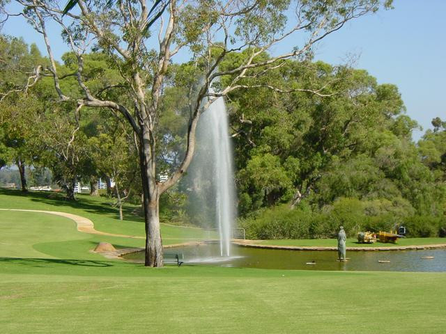 Water jet in Kings Park