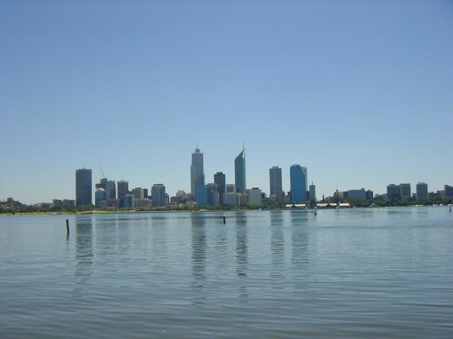 View on the CBD from South-Perth across the Swan river
