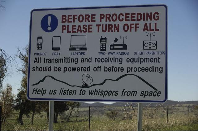 Instructions near Canberra Deep Space Communication Complex
