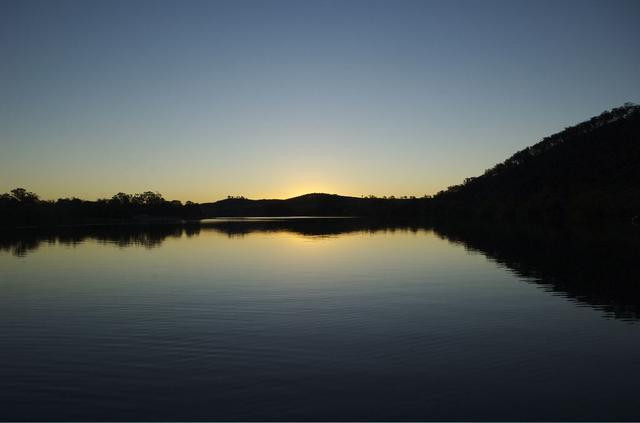Sunset near Canberra