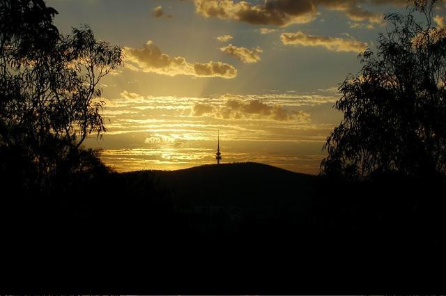 Sunset over Telstra Tower
