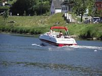 Boat on the Moselle river
