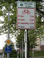 Cycling direction(s) in Luxembourg city
