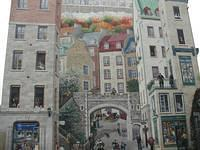 The Mural of Quebecers: history characters of Quebec. On the second floor - left side - you will find Jacques Cartier.