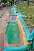 Colorful benches