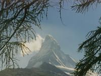 Matterhorn, on the border between Switzerland and Italy (14,688 feet - 4,477 m high). The french call it Mont Cervin and the Ita