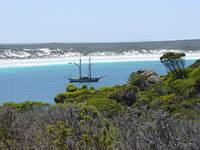 Sailing boat in Cape Le Grand National Park