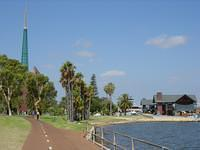 Cycle paths are common in Perth