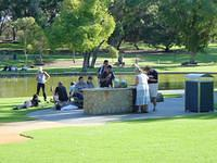 Public BBQ place in Kings Park