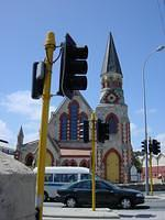 Freemantle's church and traffic lights.